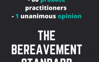 the bereavement standard